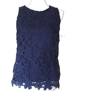 Saint Tropez West Sleevels Floral Embroidered Top